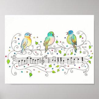 Drie Kleine Vogels Poster