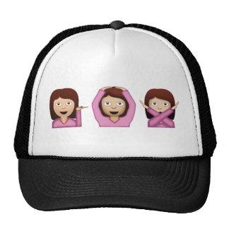 Drie Meisjes Emoji Petten