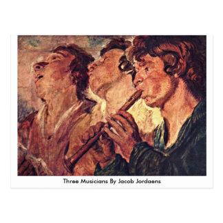 Drie Musici door Jacob Jordaens Briefkaart