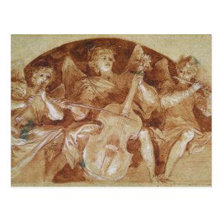 Drie Musici van de Engel Briefkaart