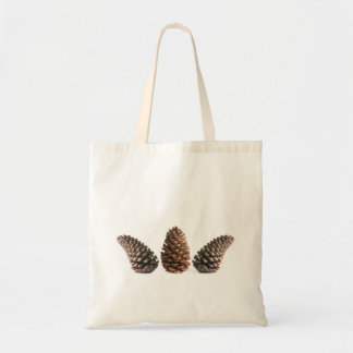 Drie pinecones draagtas