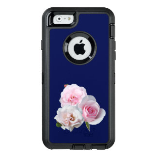 Drie roze rozen OtterBox defender iPhone hoesje