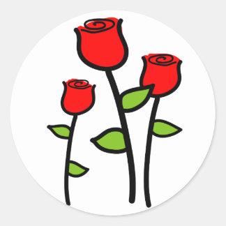 Drie Rozen Ronde Sticker