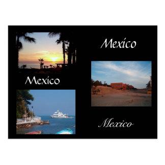 drie scènes van Mexico Briefkaart