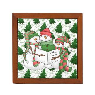Drie Sneeuwman Carolers Pennenhouder