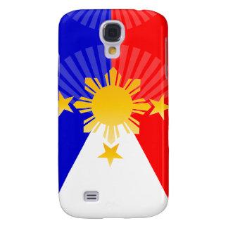 Drie Sterren & een Zon stileerden Filippijnse Vlag Galaxy S4 Hoesje