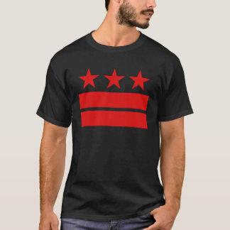 Drie Sterren en Twee Bars van de Zwarte T-shirt