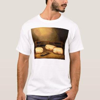 Drie Varkens van de Prijs buiten een Varkenskot T Shirt