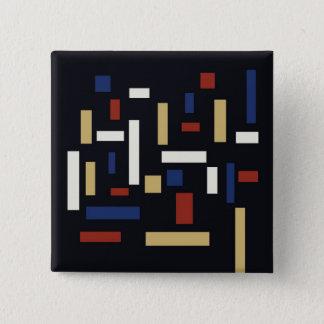 Drie vereren Knoop Vierkante Button 5,1 Cm