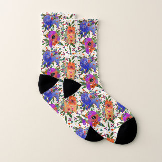 DRIE VOEREN BINDI - witte sokken als achtergrond