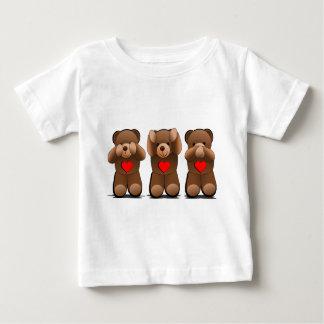 Drie Wijze Teddies, de Druk van de Teddybeer Baby T Shirts