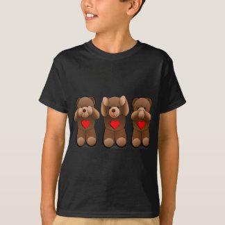 Drie Wijze Teddies, de Druk van de Teddybeer T Shirt