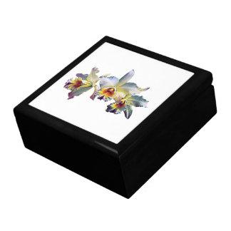 Drie Witte Orchideeën Vierkant Opbergdoosje Large