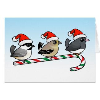 Drie Zangvogels (vs) van Kerstmis Kaart