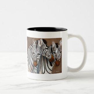 Drie Zebras Tweekleurige Koffiemok
