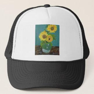 Drie Zonnebloemen in een Vaas, van Gogh Trucker Pet