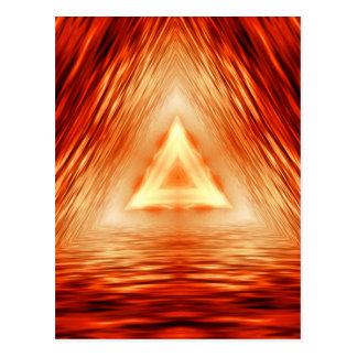 Driehoeken van brand briefkaart