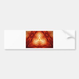 Driehoeken van brand bumpersticker