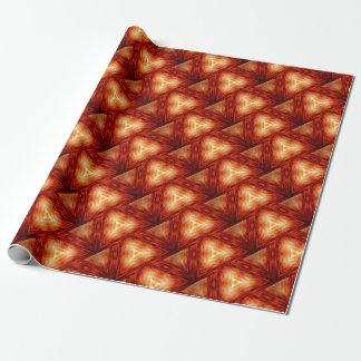 Driehoeken van brand cadeaupapier