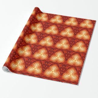 Driehoeken van brand inpakpapier