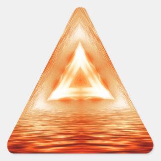 Driehoeken van brand stickers