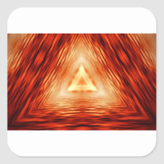 Driehoeken van brand vierkante sticker