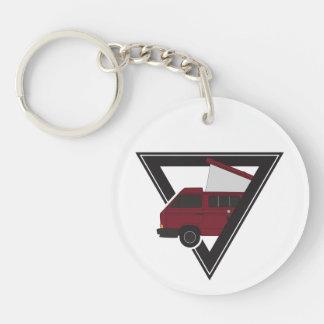 driehoeks kastanjebruine bus sleutelhanger