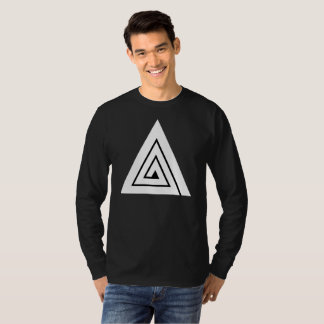 Drievoud - een Zwart Lang Sleeve T Shirt