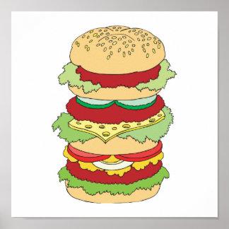 drievoudige dekhamburger poster