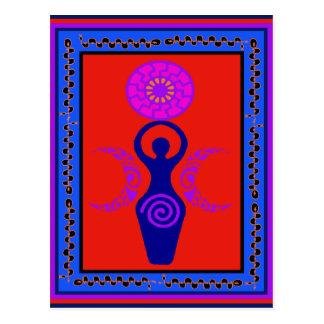 Drievoudige Godin Briefkaart