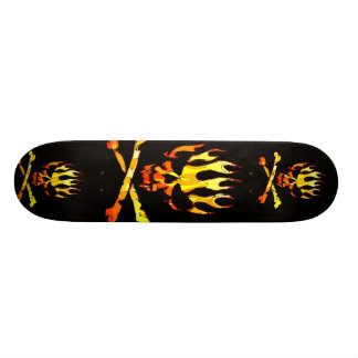 drievoudige vlamschedel 18,4 cm mini skateboard deck