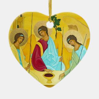 Drievuldigheid Keramisch Hart Ornament