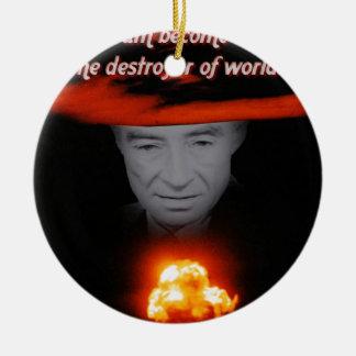 Drievuldigheid Robert Oppenheimer Rond Keramisch Ornament