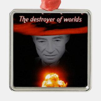 Drievuldigheid Robert Oppenheimer Zilverkleurig Vierkant Ornament