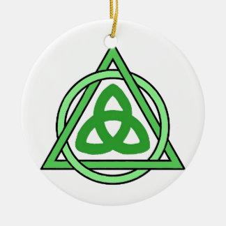 Drievuldigheid Rond Keramisch Ornament