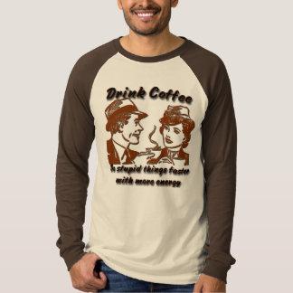 Drink de T-shirt van het Honkbal van de Koffie