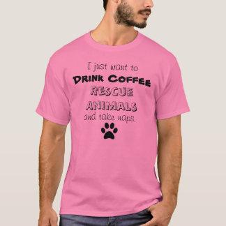 drink koffie, red dieren, neem dutjes t shirt