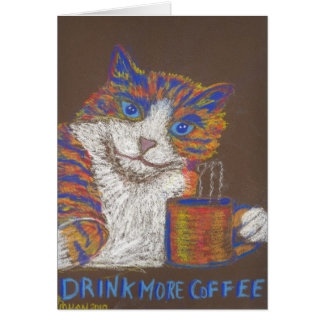 Drink Meer Kaart van de Kat van de Koffie