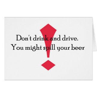 Drink niet kaart
