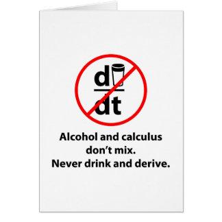 Drink nooit en leid af briefkaarten 0