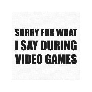 Droevig zeg Videospelletjes Canvas Afdrukken