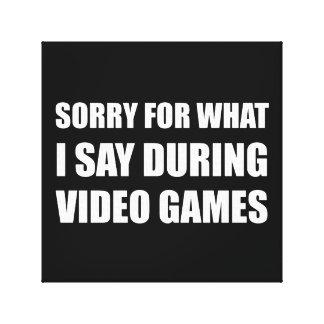 Droevig zeg Videospelletjes Canvas Prints