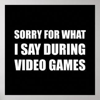 Droevig zeg Videospelletjes Poster