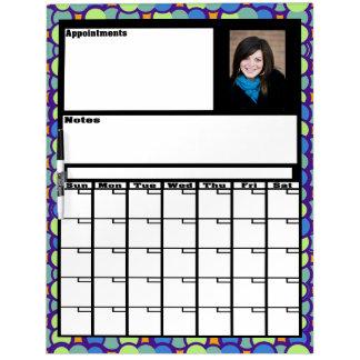 Droge de Kalender van de Foto van de douane wist R Whiteboard