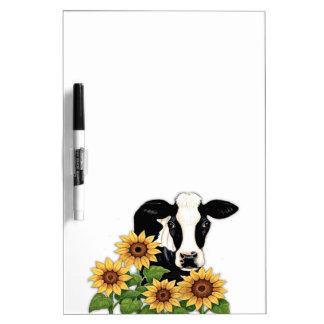 Droge de Koe van zonnebloemen wist raad Whiteboard