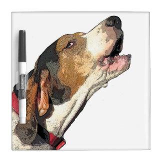Droge de Kunst van Coonhound van de Leurder van Whiteboards