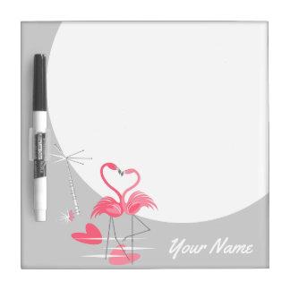 Droge de Naam van de Liefde van de flamingo wist Whiteboard