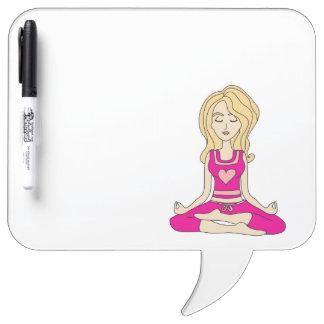 Droge het meisje van de yoga wist Raad Whiteboards