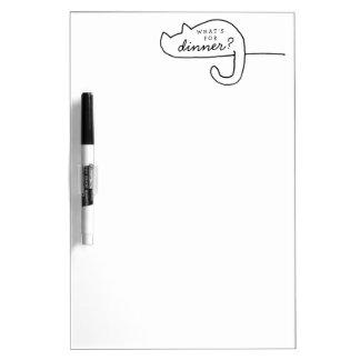 Droge het Menu van het Diner van de Ijskast van de Dry Erase Whiteboard