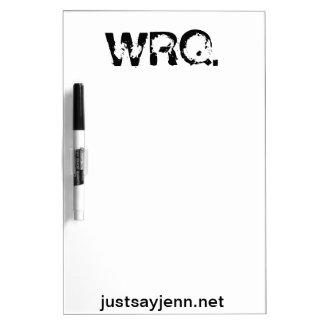 Droge WRQ wist raad Whiteboard